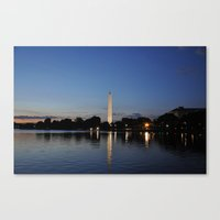 Washington Memorial Across Tidal Basin Canvas Print
