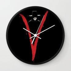V for Vendetta (e6) Wall Clock