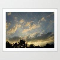 August Skies Falling Int… Art Print