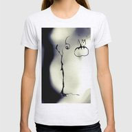Cool Sketch 115 Womens Fitted Tee Ash Grey SMALL