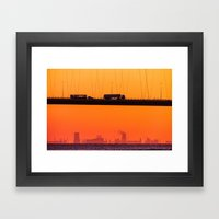 Working Dawn Framed Art Print