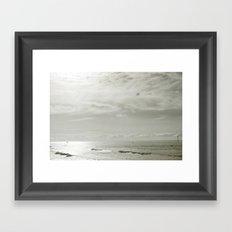 White Sunset Framed Art Print