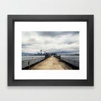View from Liberty Island Pier Framed Art Print