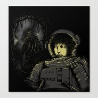 Space Horror Canvas Print
