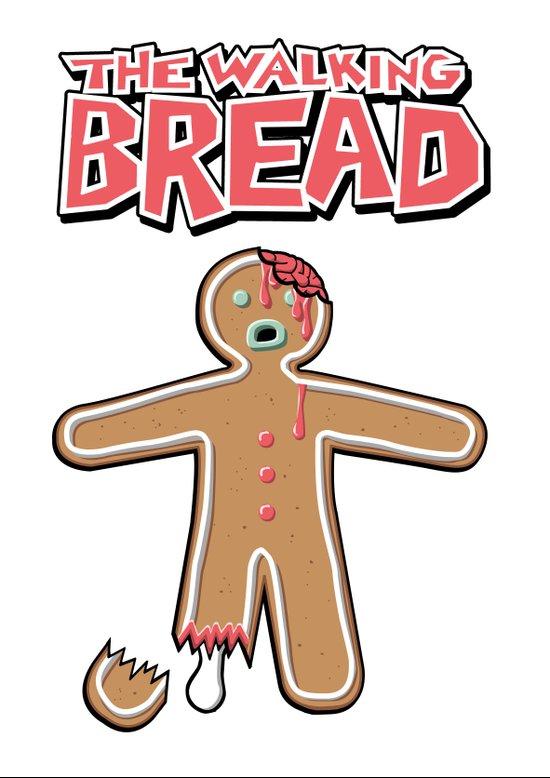 The Walking Bread  Art Print
