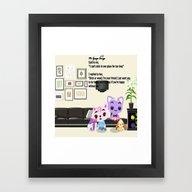 Friends  , Friends  Game… Framed Art Print