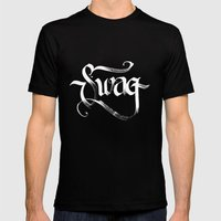 Swag Mens Fitted Tee Black SMALL
