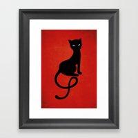 Red Gracious Evil Black … Framed Art Print