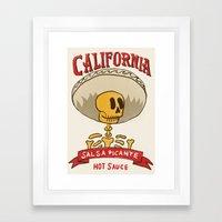 California Hot Sauce Framed Art Print