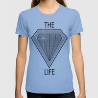 Diamond Life Womens Fitted Tee Athletic Blue SMALL