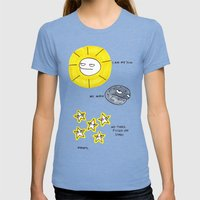 My Sun, My Moon, My Tire… Womens Fitted Tee Tri-Blue SMALL