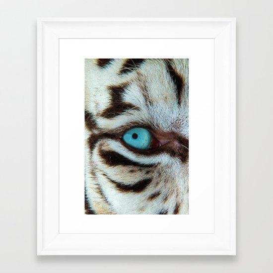 WHITE TIGER BEAUTY Framed Art Print