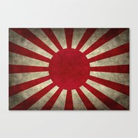 The imperial Japanese Army Ensign Flag Canvas Print