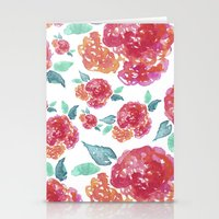 Pastel Spring Flowers Watercolor Stationery Cards