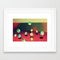 Retro Marbles Framed Art Print