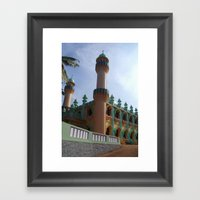 Beachside Mosque Varkala Framed Art Print