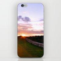 Couple walking at sunset iPhone & iPod Skin