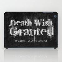 Death Wish Granted. iPad Case