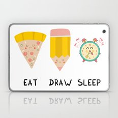 Eat, Draw, Sleep Laptop & iPad Skin