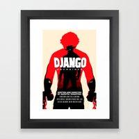 Django Unchained Poster Framed Art Print