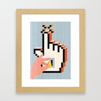 Boosting Clicks Framed Art Print