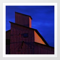 Building Forms At Midnig… Art Print