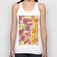 Summer Floral Unisex Tank Top