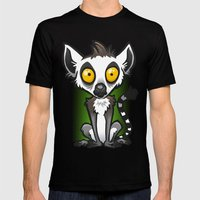 Ring-Tailed Lemur Mens Fitted Tee Black SMALL