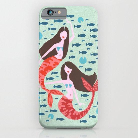 Koi Mermaids on Mint iPhone & iPod Case