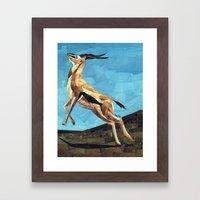 Gazelle Framed Art Print