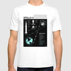 Apollo 11 Mission Diagram Mens Fitted Tee White SMALL