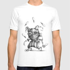 #11 SMALL White Mens Fitted Tee