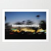 If The City Never Sleeps… Art Print