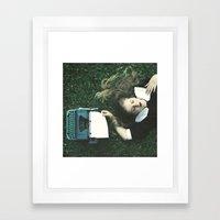 white blank page Framed Art Print