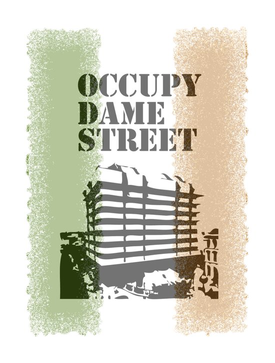 Occupy Dame Street Art Print