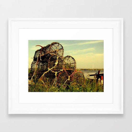 Lobster Pots Framed Art Print