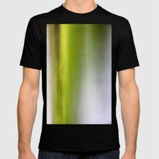 Abstract Reedbed Black SMALL Mens Fitted Tee