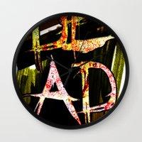 D.E.A.D  Wall Clock