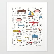 Art Print featuring Things With Wheels by Marc Johns