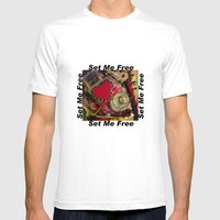 Set Me Free Mens Fitted Tee White SMALL