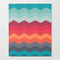 Color strips pattern Canvas Print