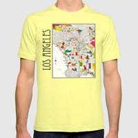 Los Angeles Streets Mens Fitted Tee Lemon SMALL