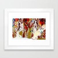 Fall Long Dresses  Framed Art Print