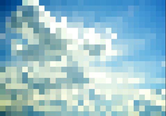 Pixel Clouds Art Print