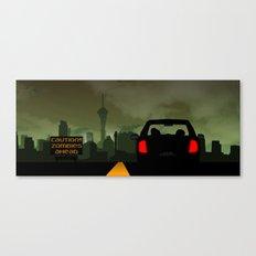 Caution Zombies Ahead Canvas Print