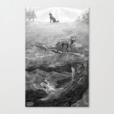 Coyote and the Columbia River  Canvas Print