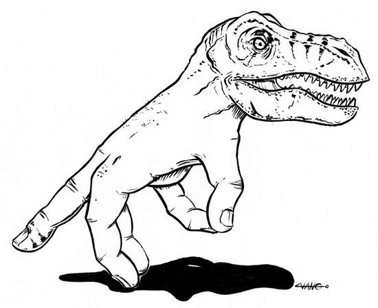 Handosaurus Rex Art Print