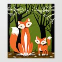 Two Fine Foxes Canvas Print