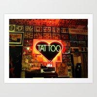 Tattooed Art Print
