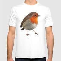 Robin Mens Fitted Tee White SMALL